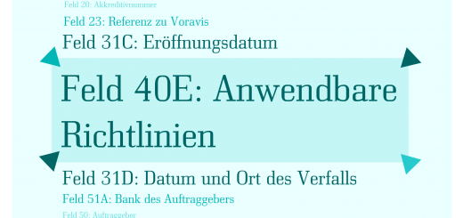 Was ist Akkreditiv Feld 40E: Anwendbare Richtlinien (Applicable Rules)?