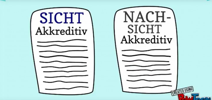 Erklär-Video Sichtakkreditiv und Nachsichtakkreditiv