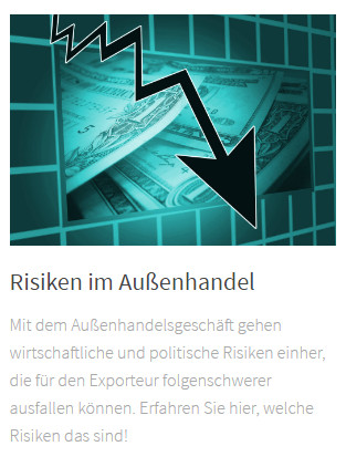 """Link Artikel """"Risiken im Außenhandel"""""""